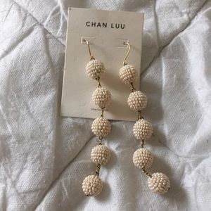 Chan Luu Earrings Brand New with Tags white